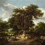 Ruisdael, Jacob van; Berchem, Nicolaes Pietersz – The Great Oak, Los Angeles County Museum of Art (LACMA)