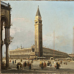 Los Angeles County Museum of Art (LACMA) - called Canaletto Antonio Canal - Piazza San Marco Looking South and West