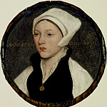 Portrait of a Young Woman with a White Coif, Hans The Younger Holbein