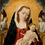 Los Angeles County Museum of Art (LACMA) - Master of the Saint Ursula Legend - Virgin and Child with Two Angels