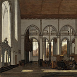 Emmanuel de Witte – Interior of the Oude Kerk, Amsterdam, Los Angeles County Museum of Art (LACMA)