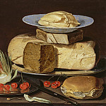 Los Angeles County Museum of Art (LACMA) - Clara Peeters - Still Life with Cheeses, Artichoke, and Cherries