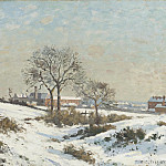 Camille Pissarro – Snowy Landscape at South Norwood, Los Angeles County Museum of Art (LACMA)
