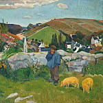 Paul Gauguin – The Swineherd, Los Angeles County Museum of Art (LACMA)