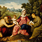 Los Angeles County Museum of Art (LACMA) - Paris Bordone - Madonna and Child with Saints Jerome and Francis