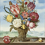 Ambrosius Bosschaert – Bouquet of Flowers on a Ledge, Los Angeles County Museum of Art (LACMA)