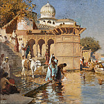 Along the Ghats, Mathura, Edwin Longsden Long
