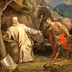 Los Angeles County Museum of Art (LACMA) - Louis Galloche - Saint Martin Sharing his Coat with a Beggar