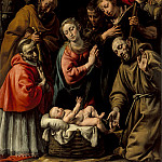 Los Angeles County Museum of Art (LACMA) - Antonio d′ Enrico (called Tanzio da Varallo) - Adoration of the Shepherds with Saints Francis and Carlo Borromeo