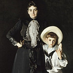 Portrait of Mrs. Edward L. Davis and Her Son, Livingston Davis, John Singer Sargent
