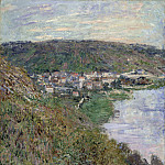 View of Vetheuil, Claude Oscar Monet
