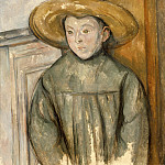 Boy With a Straw Hat, Paul Cezanne