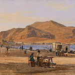 Martinus Rorbye – Palermo Harbor with a View of Monte Pellegrino, Los Angeles County Museum of Art (LACMA)