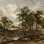 Meindert Hobbema – Landscape with a Footbridge, Los Angeles County Museum of Art (LACMA)