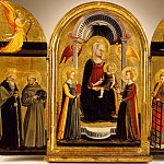 Los Angeles County Museum of Art (LACMA) - Neri Di Bicci - Triptych of the Madonna and Child with Saints