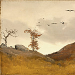 Los Angeles County Museum of Art (LACMA) - Lessing, Karl Friedrich - Landscape with Crows