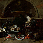 Los Angeles County Museum of Art (LACMA) - Nicola van Houbraken - Still Life with Bottles and Oysters