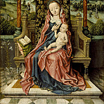 Aelbrecht Bouts – Madonna and Child Enthroned, Los Angeles County Museum of Art (LACMA)