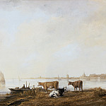View of the Maas near Dordrecht, Aelbert Cuyp