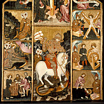 Los Angeles County Museum of Art (LACMA) - Aragon [school of] - Triptych with Scenes from the Life of St. George