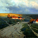900 Classic russian paintings - Kryzhitsky Constantine - Evening in Ukraine