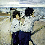 900 Classic russian paintings - Valentin Serov - Children