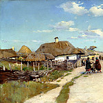 Vasilkovsky Sergey - village street, 900 Classic russian paintings