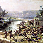 900 Classic russian paintings - KOWALEWSKI Paul - Battle of the Ivanovo-Chiflik October 2, 1877