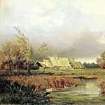 900 Classic russian paintings - VOLKOV Yefim - Swamp autumn