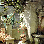 Semiradsky Henry - at the fountain, 900 Classic russian paintings