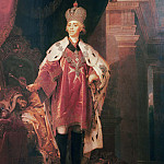 Borovikovsky Vladimir - Portrait of Paul I in the costume Grandmaster of Malta, 900 Classic russian paintings