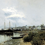 900 Classic russian paintings - Isaak Levitan - After the rain. Reach