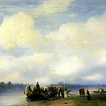 Ivan Aivazovsky - The arrival of Peter I on the Neva, 900 Classic russian paintings