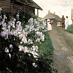 900 Classic russian paintings - Schilder Andrew - Cottage in Finland