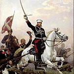Nikolai Dmitriev-Orenburgsky - General Nikolai Skobelev on horseback, 900 Classic russian paintings