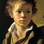 900 Classic russian paintings - Tropinin Vasily - Portrait of Arseny Vasilyevich Tropinin, son of the artist. Around 1818