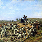 900 Classic russian paintings - KOWALEWSKI Paul - Rest 140 th Infantry Regiment Zaraisk the 35 th Infantry Division