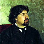 Portrait VISurikov, Ilya Repin