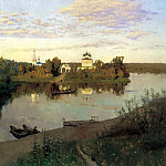900 Classic russian paintings - Isaak Levitan - Evening Bell
