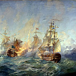 Blink Alexander - Battle of the island Tendra 28-29 August 1790, 900 Classic russian paintings