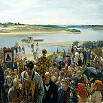 900 Classic russian paintings - Pryanishnikov Hilarion - Procession