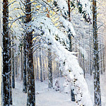 Kryzhitsky Constantine – Forest in winter, 900 Classic russian paintings