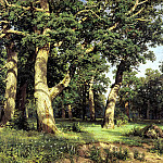 900 Classic russian paintings - Shishkin Ivan - Oak Grove