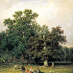 900 Classic russian paintings - Shishkin Ivan - For the mushroom