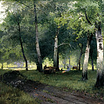 900 Classic russian paintings - Schilder Andrew - Birch forest