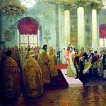 900 Classic russian paintings - Ilya Repin - Wedding of Nicholas II and Grand Duchess Alexandra Feodorovna. 1894