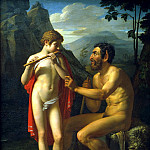 900 Classic russian paintings - Basin Peter - Faun Marsyas teaches young Olympia playing the flute