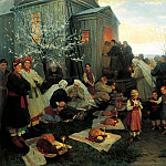 900 Classic russian paintings - Pimonenko Nicholas - Easter