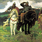 900 Classic russian paintings - Viktor Vasnetsov - Giants (Heroes)