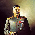 Portraits of Stalin - Vasyl Yakovlev, 900 Classic russian paintings